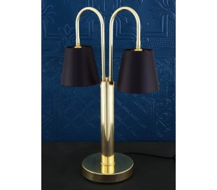 Uppsala Bordlampe H63 cm 2 x E27 - Sort/Poleret messing