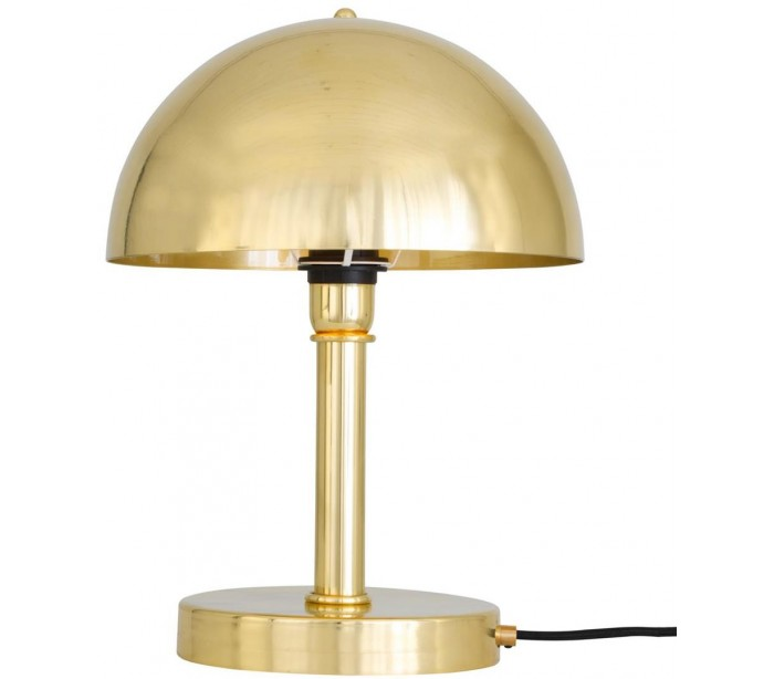 mullan lighting – Turku bordlampe h36 cm 1 x e27 - poleret messing på lepong.dk
