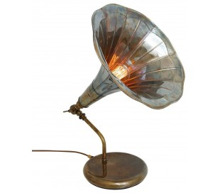 Grammophone Bordlampe H50 cm 1 x E27 - Antik messing