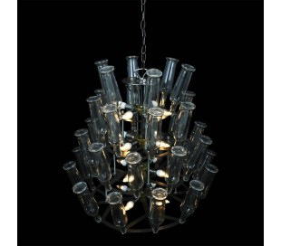 Laragh lysekrone Ø80 cm 16 x E14 - Rustik stål