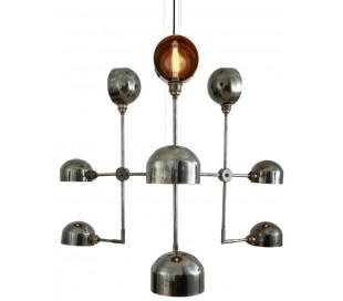 Comala lysekrone Ø92 x 80 cm 9 x E27 - Antik sølv
