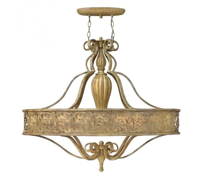 hinkley lighting – Carabel oval loftslampe ø98 x 61 cm 6 x e27 - børstet champagne fra lepong.dk