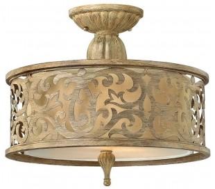 Carabel Loftslampe Ø37,5 cm 2 x E27 - Børstet champagne