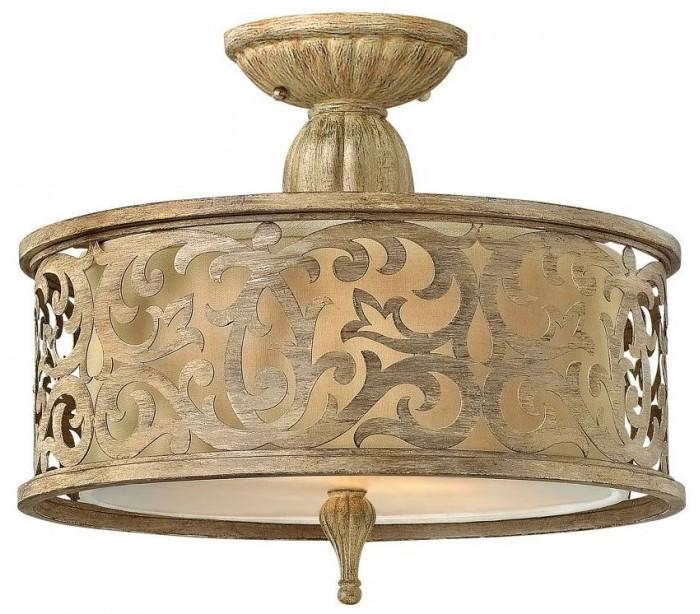 hinkley lighting Carabel loftslampe ø37,5 cm 2 x e27 - børstet champagne fra lepong.dk