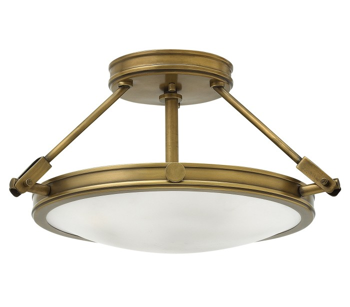 Image of   Collier Semi-Flush Plafond Ø41,7 cm 3 x E14 - Rustik messing