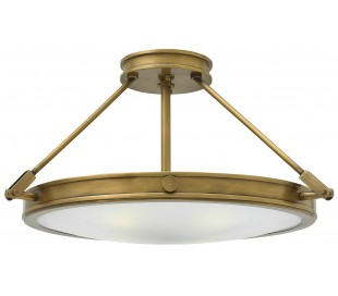 Collier Semi-Flush Plafond Ø55,9 cm 4 x E14 - Rustik messing