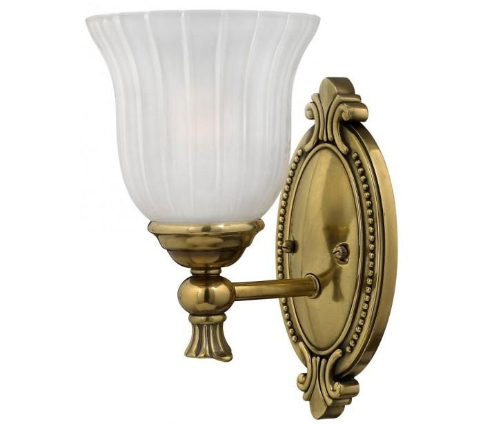 Image of   Francoise Badeværelseslampe i messing og glas H27,3 cm 1 x G9 LED - Antik messing/Frostet