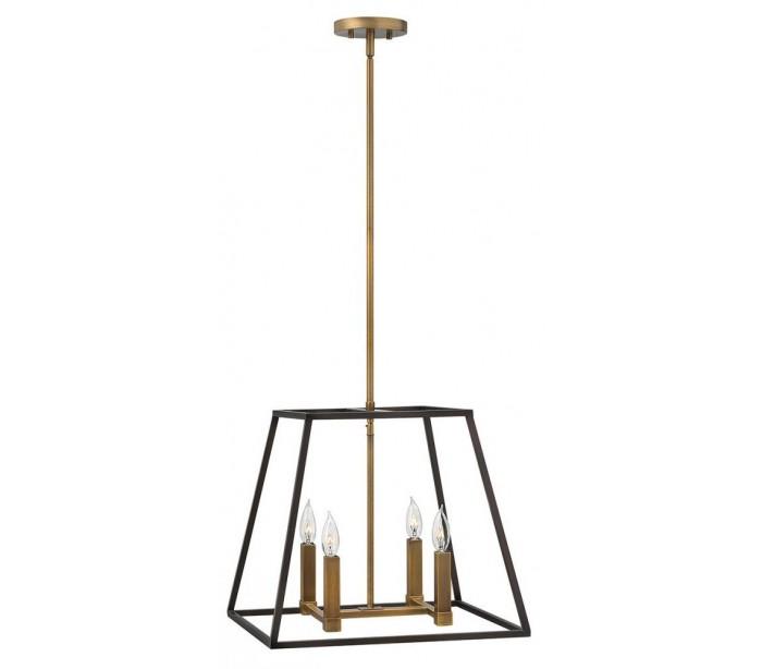 Fulton loftlampe ø45,7 cm 4 x e14 - antik bronze fra hinkley lighting på lepong.dk