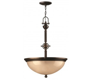Mayflower Loftlampe Ø53,3 cm 3 x E27 - Aldret bronze/Rav