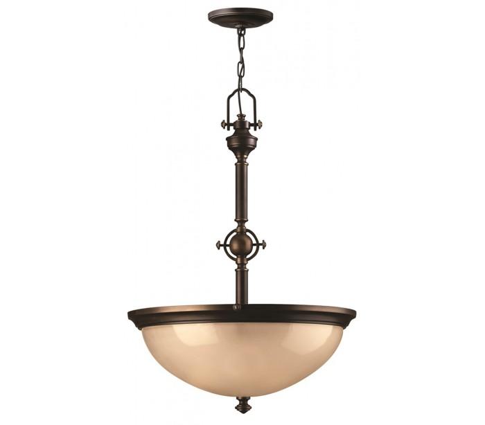 Mayflower loftlampe ø53,3 cm 3 x e27 - aldret bronze/rav fra hinkley lighting fra lepong.dk