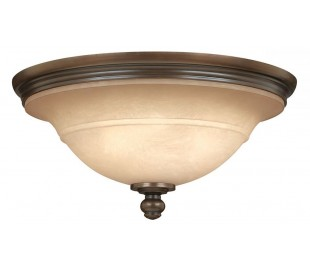 Plymouth Plafond Ø44,5 cm 3 x E27 - Aldret bronze/Rav