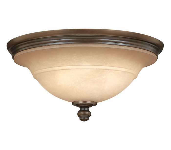 Image of   Plymouth Plafond Ø44,5 cm 3 x E27 - Aldret bronze/Rav