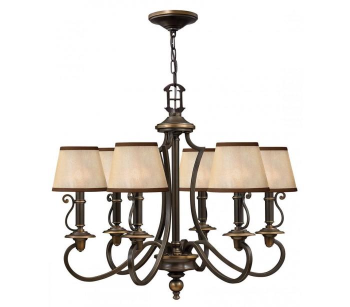 hinkley lighting – Plymouth lysekrone ø70,5 cm 6 x e14 - aldret bronze/rav på lepong.dk