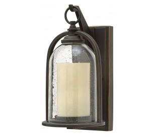 Quincy Væglampe H34,3 cm 1 x E27 - Aldret bronze