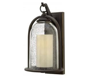 Quincy Væglampe H42,5 cm 1 x E27 - Aldret bronze
