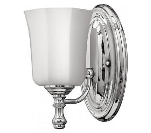 Shelly Badeværelseslampe i stål og glas H23,8 cm 1 x G9 LED - Poleret krom/Hvid