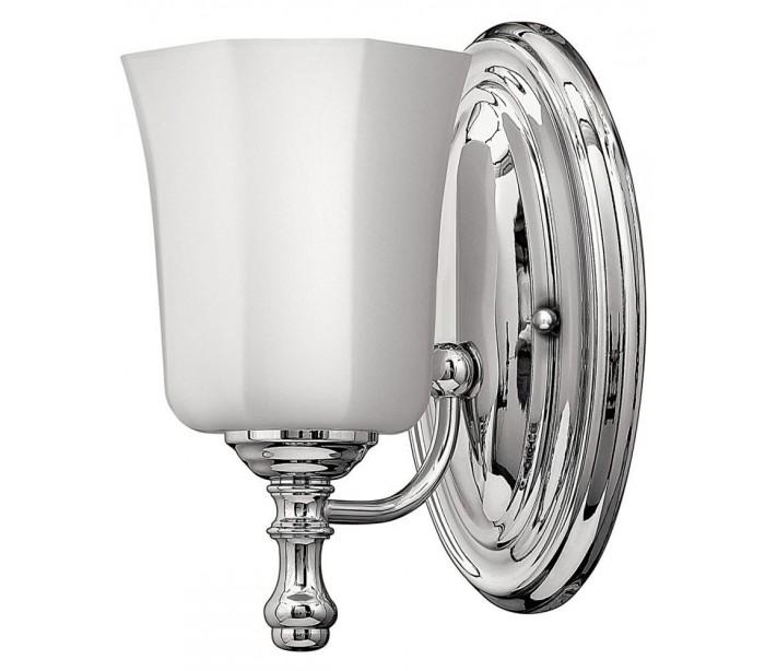 hinkley lighting – Shelly badeværelseslampe i stål og glas h23,8 cm 1 x g9 led - poleret krom/hvid fra lepong.dk