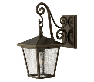 Trellis Væglampe H38,7 cm 1 x E27 - Rustik bronze