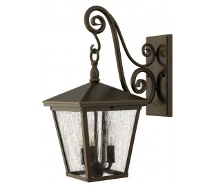 Trellis Væglampe H50,2 cm 3 x E14 - Rustik bronze