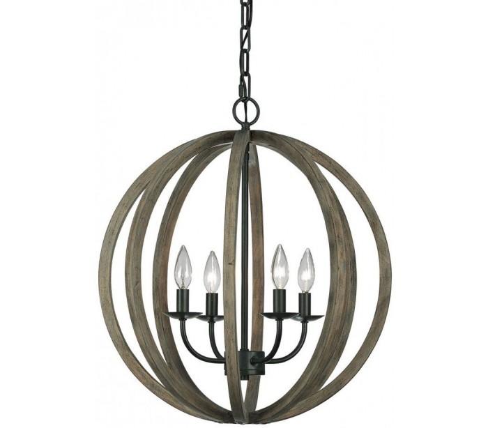 feiss lighting Allier loftlampe ø52,1 cm 4 x e14 - rustikt træ/jern fra lepong.dk