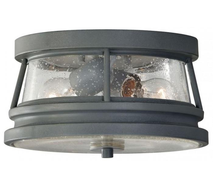 Chelsea loftlampe ø27,9 cm 2 x e27 - antik grå fra feiss lighting fra lepong.dk