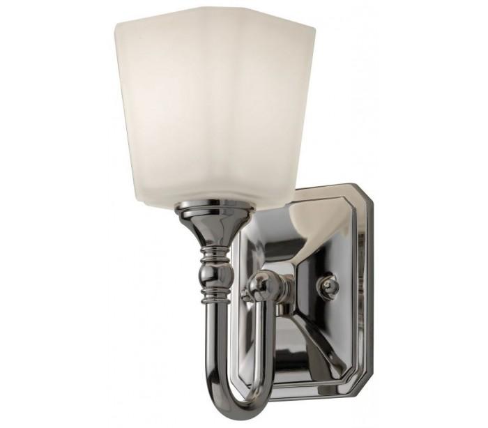 Image of   Concord Badeværelseslampe i stål og glas H25,7 cm 1 x G9 LED - Poleret krom/Hvid