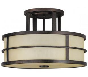 Fusion Plafond Ø34,3 cm 3 x E27 - Rustik bronze/Rav
