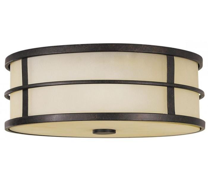 Fusion plafond ø34,3 cm 3 x e27 - rustik bronze/rav fra feiss lighting fra lepong.dk