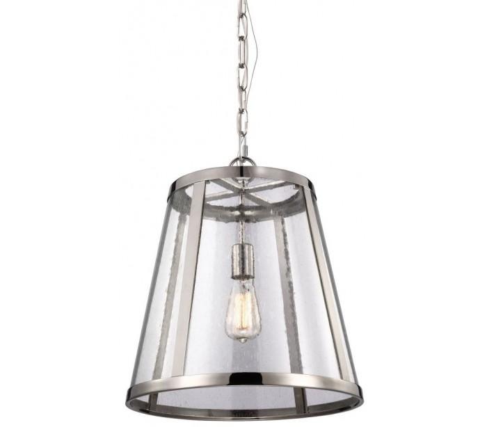 Harrow Loftlampe Ø40,6 cm 1 x E27 – Poleret nikkel fra Feiss Lighting