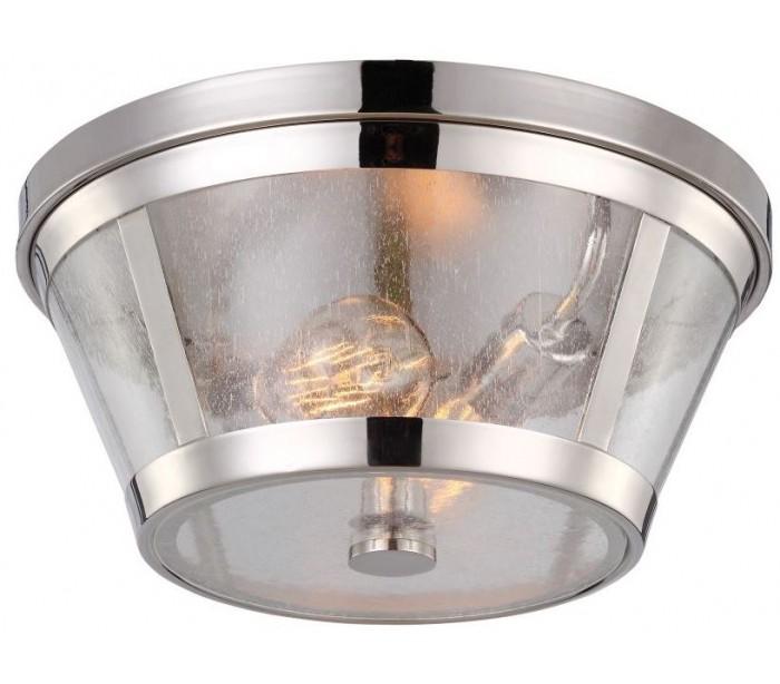 feiss lighting – Harrow plafond ø34,9 cm 2 x e27 - poleret nikkel fra lepong.dk