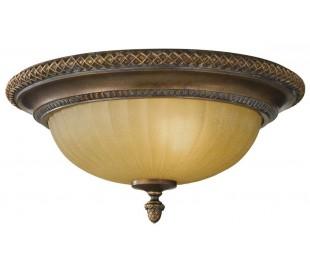 Kelham Hall Plafond Ø34,3 cm 2 x E27 - Antik guldbronze/Indie