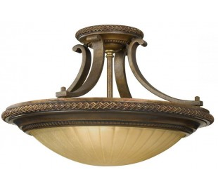 Kelham Hall Plafond Ø45,7 cm 2 x E27 - Antik guldbronze/Indie