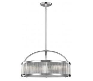 Paulson Badeværelseslampe i stål og glas Ø53,7 cm 6 x G9 LED - Poleret krom/Klar