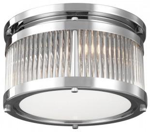 Paulson Badeværelseslampe i stål og glas Ø27,9 cm 2 x G9 LED - Poleret krom/Klar