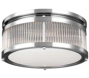 Paulson Badeværelseslampe i stål og glas Ø38,1 cm 3 x G9 LED - Poleret krom/Klar