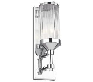 Paulson Badeværelseslampe i stål og glas H38,1 cm 1 x G9 LED - Poleret krom/Klar