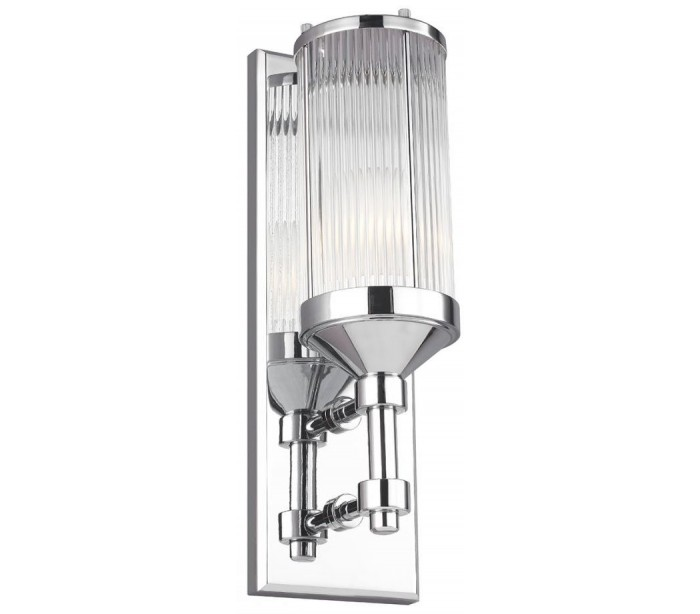 feiss lighting Paulson badeværelseslampe i stål og glas h38,1 cm 1 x g9 led - poleret krom/klar på lepong.dk