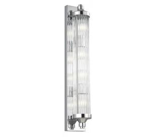 Paulson Badeværelseslampe i stål og glas H73,7 cm 4 x G9 LED - Poleret krom/Klar