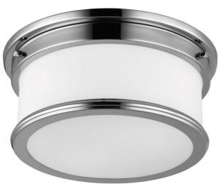 Payne Badeværelseslampe i stål og glas Ø31,8 cm 2 x G9 LED - Poleret krom/Hvid