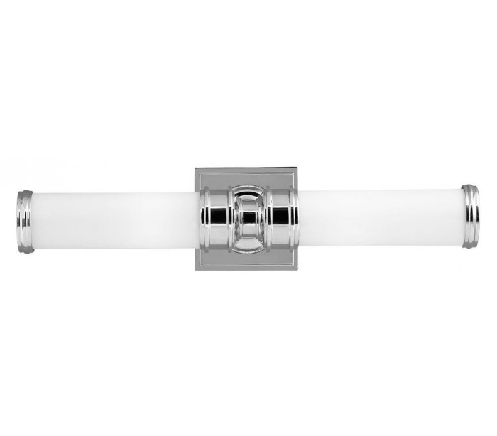 feiss lighting Payne badeværelseslampe i stål og glas h48,9 cm 2 x g9 led - poleret krom/hvid fra lepong.dk