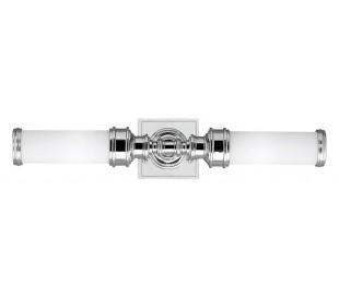 Payne Badeværelseslampe i stål og glas H55,9 cm 2 x G9 LED - Poleret krom/Hvid