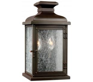 Pediment Væglampe H31,8 cm 2 x E14 - Aldret kobber