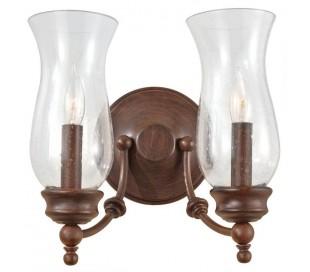 Pickering Lane Væglampe B27,9 cm 2 x E14 - Rustik bronze