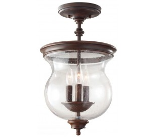 Pickering Lane Loftlampe Ø25,4 cm 3 x E14 - Rustik bronze