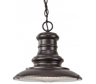 Redding Station Loftlampe Ø30,5 cm 1 x E27 - Rustik bronze