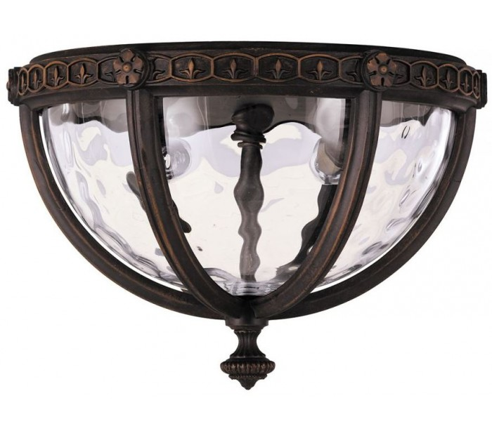 regent court loftlampe ø26,7 cm 2 x e14 - rustik bronze fra feiss lighting