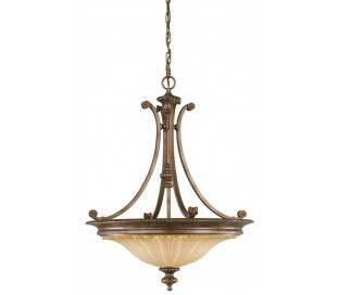 Stirling Castle Loftlampe Ø55,9 cm 3 x E27 - Rustik bronze