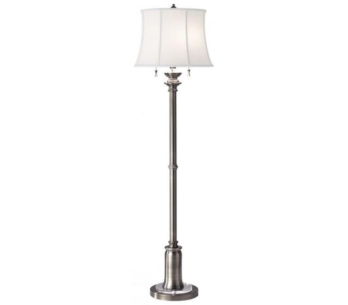 Stateroom gulvlampe h157,5 cm 2 x e27 - antik nikkel/hvid fra elstead lighting på lepong.dk