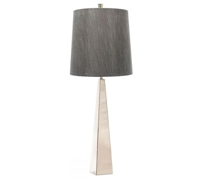 Ascent bordlampe h79 cm 1 x e27 - poleret nikkel/grå fra elstead lighting fra lepong.dk