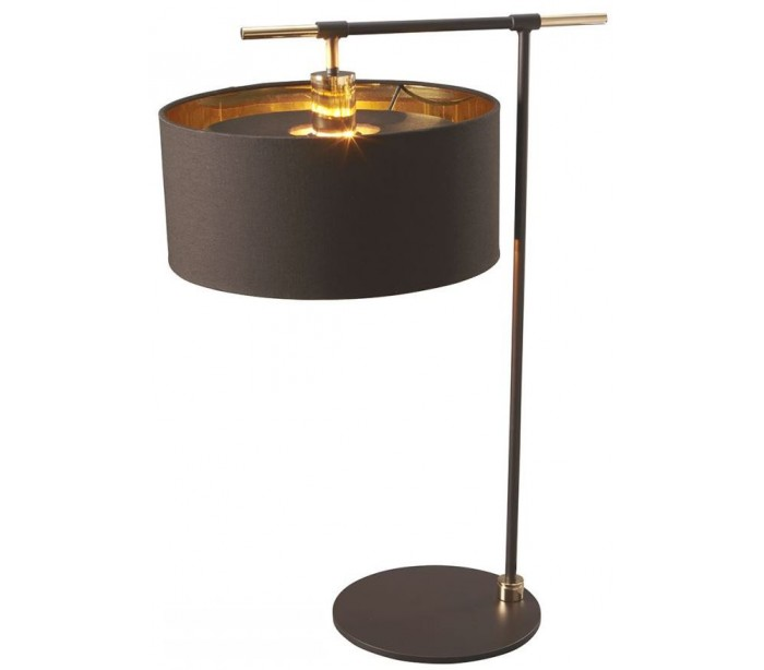 elstead lighting Balance bordlampe h65,6 cm 1 x e27 - brun/poleret messing på lepong.dk